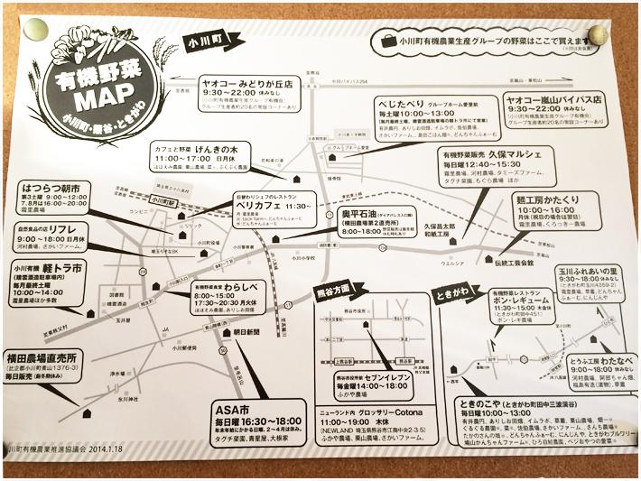 小川町有機野菜MAP