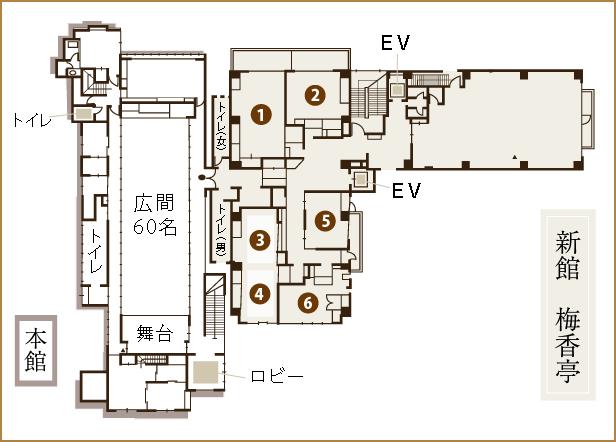 割烹旅館二葉 2階